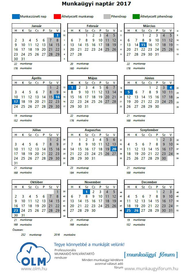 bdo 2019 munkaidő naptár 2017 Es Munkaidő Naptár   MuzicaDL bdo 2019 munkaidő naptár